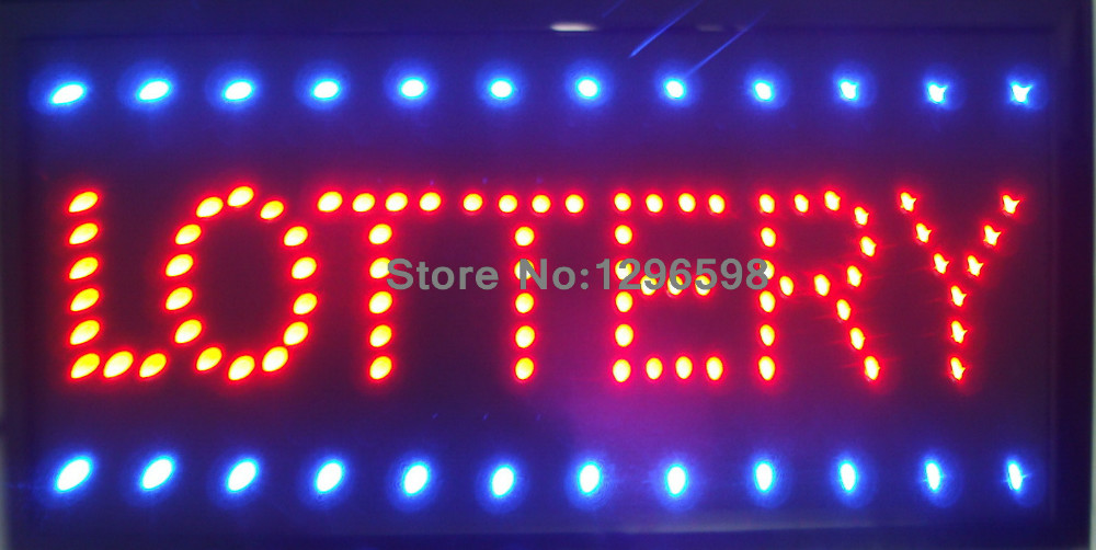 2017 led lottery shop open new arrivals custom 10x19 Inch Semi-outdoor Ultra Bright flashing sign of led