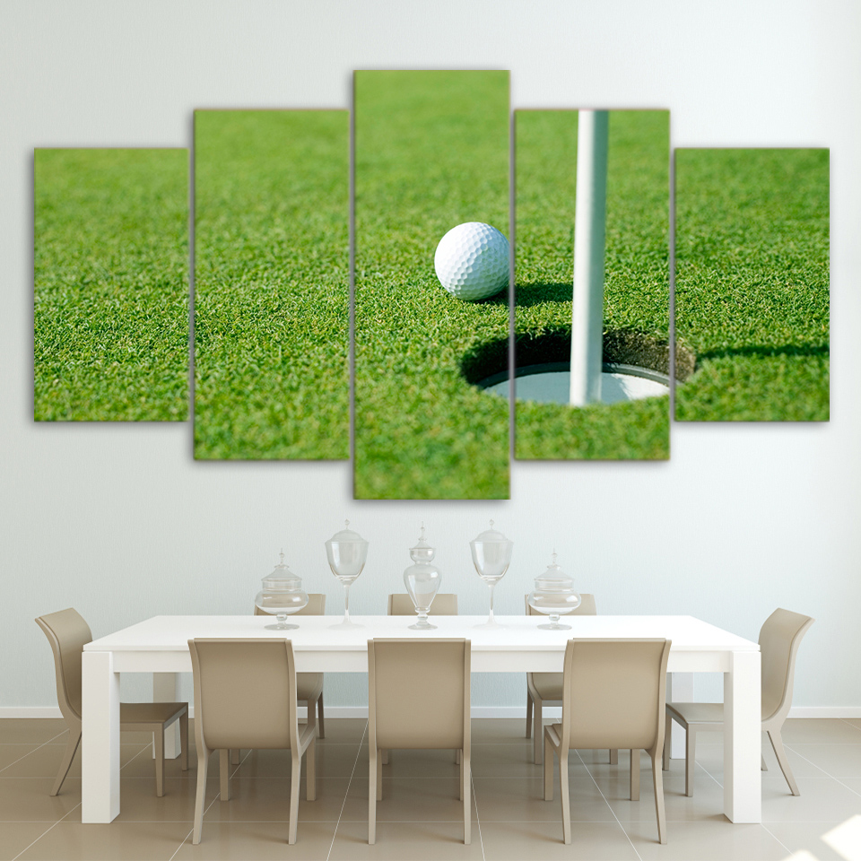 Modern Decor Canvas Painting Frame Living Room Wall Art 5 Pieces Green Golf  Course Pictures HDOnline Get Cheap Golf Courses Pictures  Aliexpress com   Alibaba Group. Golf Decorated Rooms. Home Design Ideas