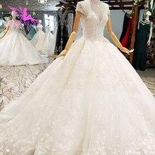AIJINGYU deuxième mariage robes de mariée robes de Satin plissé balle en ligne mariée à être robe de mariée couleur de la robe