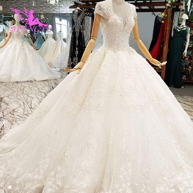 Vestidos de boda de satén AIJINGYU, vestidos de novia plisados en línea para ser un vestido de boda de Color