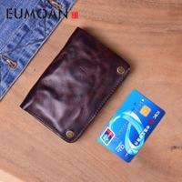 EUMOAN Men Wallet Male Genuine Leather Men's Wallet Vintage walet Male credit card holder Coin Purse Men Genuine Leather Bag