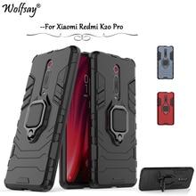 For Xiaomi Redmi K20 Pro Case Armor Metal Finger Ring Holder Phone Cover