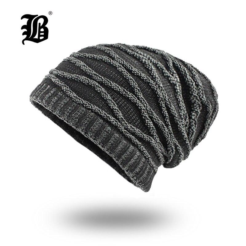 [FLB] Winter Hat Skullies Beanies Men Women Knitted Warm Hat Winter Caps Mask Balaclava Bonnet Cap Cotton Beanies Hats F18008