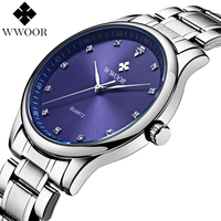 New Fashion 50m Waterproof Stainless Steel Men S Casual Quartz Watch Men Brand Diamonds Hour Silver