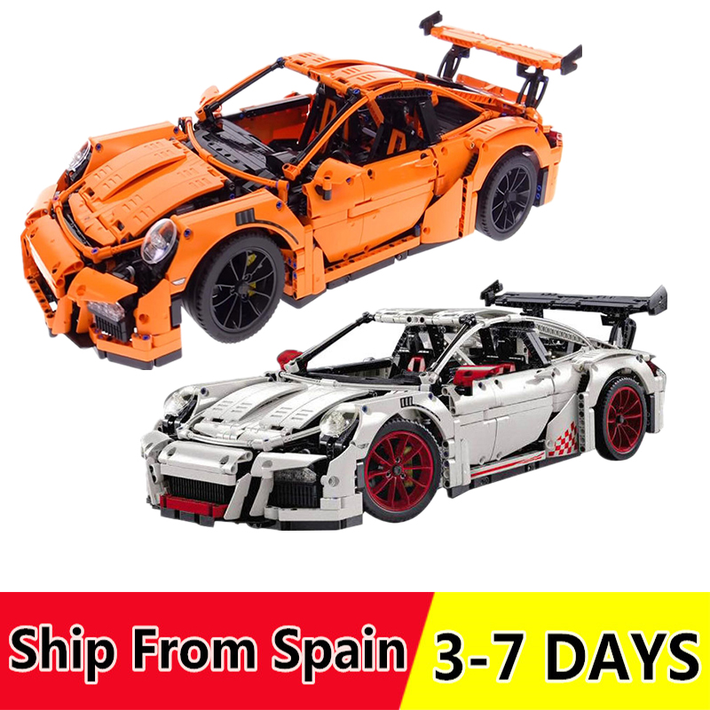 Ship from Spain 20001 20001B Technic Race Car building Blocks Compatible 42056 Toys Bricks for Children