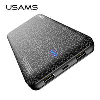 USAMS Mosaic Ultra Slim 20000mAh Powerbank Mobile Phone Universal Portable Power Bank For iPhone Samsung Etc Exteanal Battery
