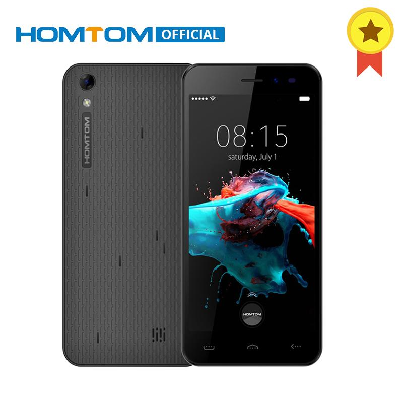 HOMTOM HT16 MTK6580 Quad Core Smartphone Android 6,0 5,0 pulgadas HD pantalla de teléfono celular 3000 mAh 1 GB RAM 8 GB ROM desbloqueado teléfono móvil