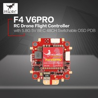 HGLRC F4 V6 PRO Flight Controller with 5.8G Transmitter 5V BEC 48CH Switchable BETAFLIGHT OSD PDB for RC Racing Drone