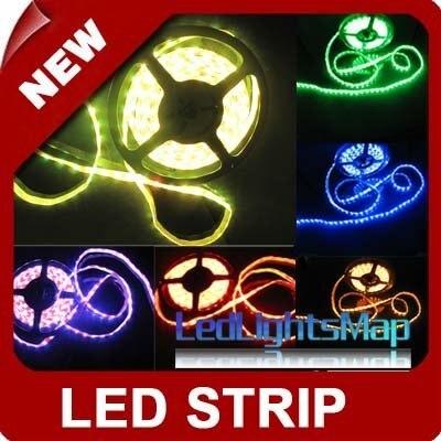 RGB LED Strip waterproof 300 SMD 5050 Flexible 5 Meter [LedLightsMap ]