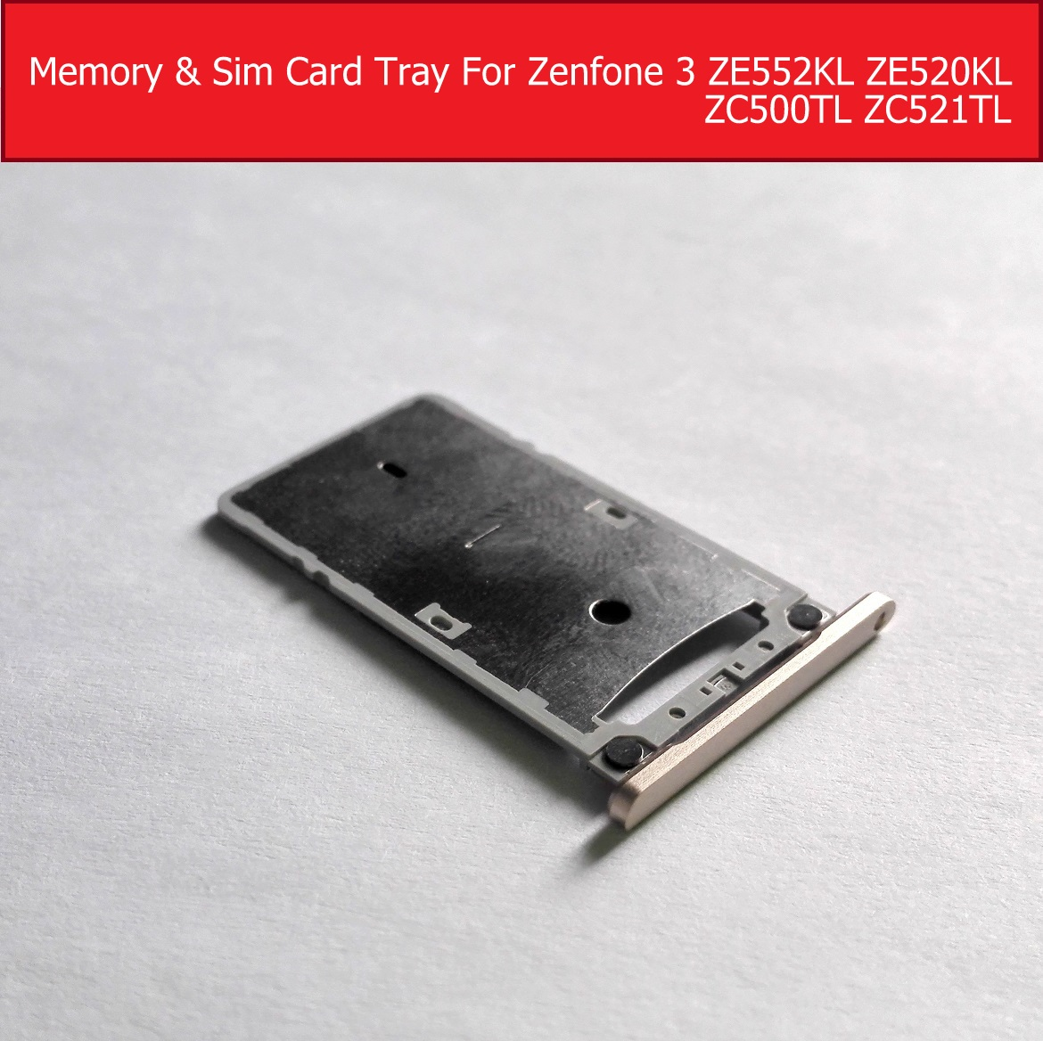 Sim Card Tray Slot For Asus Zenfone 3s MAX X00GD Zc521tl Memory Card Connector Holder For Zenfone 4 ZC500TL Sim-card Adapter