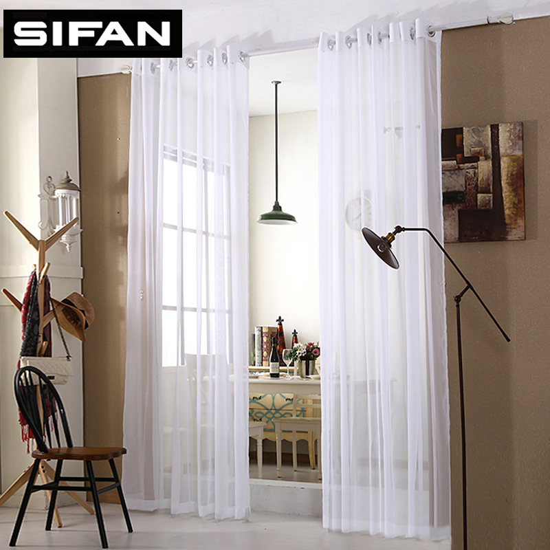 White Star Tulle Curtains Modern Curtains for Living Room ...