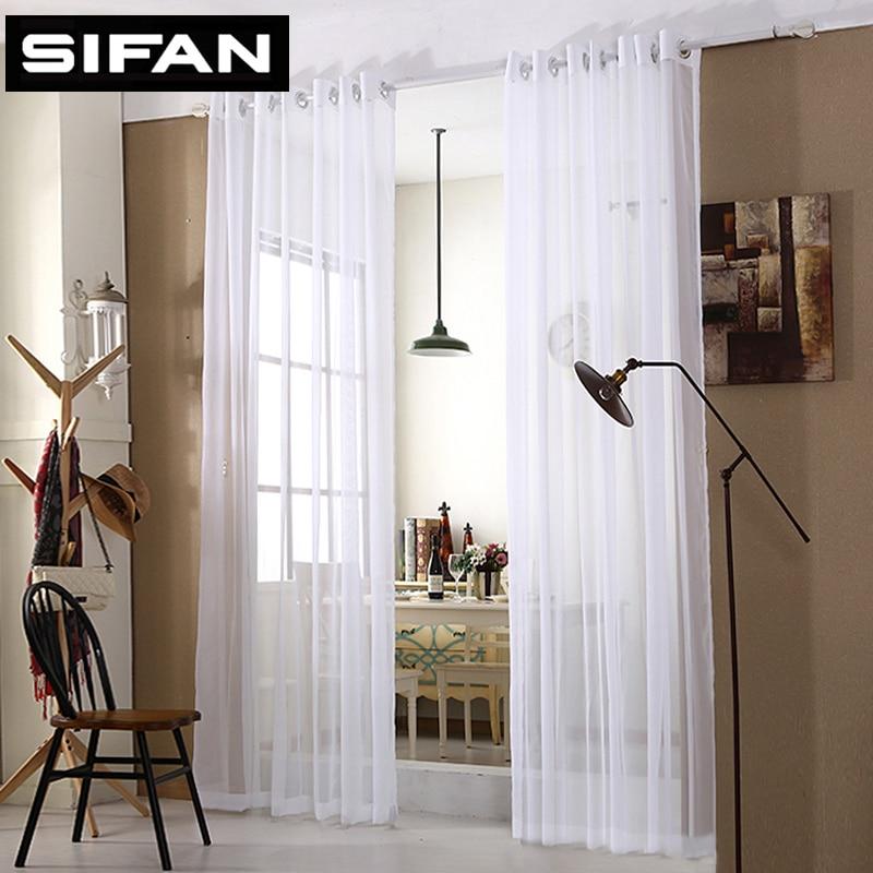 Tirai Murah Tulle Putih Tulle Tulen Moden untuk Bilik Hidup Translucidus Tirai Tirai Tingkap untuk Bilik Tidur Dibuat Khas