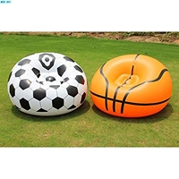 Inflatable Basketball Chair Soccer Ball Air Sofa Indoor Living Room Flocking PVC Football Lounger Adult Kids Lounge Armchair