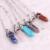 Cura pingente de bala de pedra jade suspensão bijoux choker de cristal colares & pingentes de moda colar de jóias para as mulheres