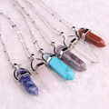 Healing stone pendant Bullet jade suspension Crystal necklaces & pendants Fashion bijoux choker necklace Jewelry For Women