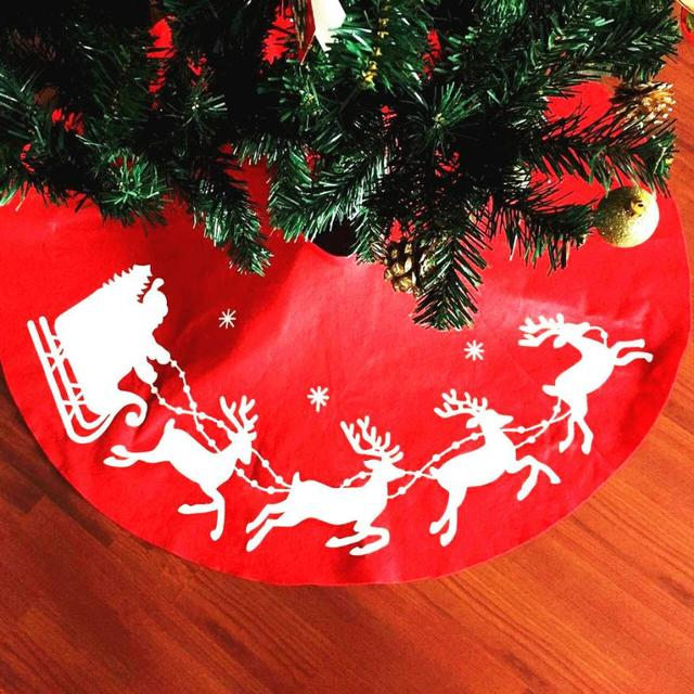 Whimsical Christmas Trees Ideas: COUNTRY CHRISTMAS Red Whimsical Santa Christmas Tree Skirt