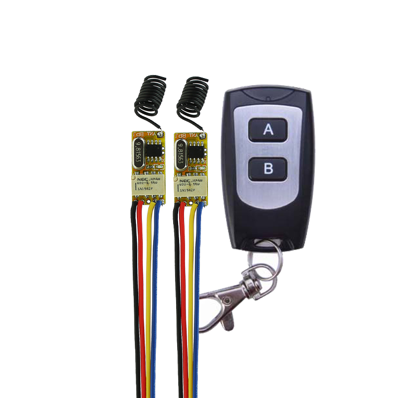 Small Remote Relay Switch 3.6V 4.8V 5V 6V 9V 12V Wide Voltage Mini Receiver Transmitter Normally Open Close Wireless Switch relay remote controller dc4v 4 5v 5v 6v 7 4v 9v 12v wireless relay switch 10a normally open close power remote on off rf rx tx