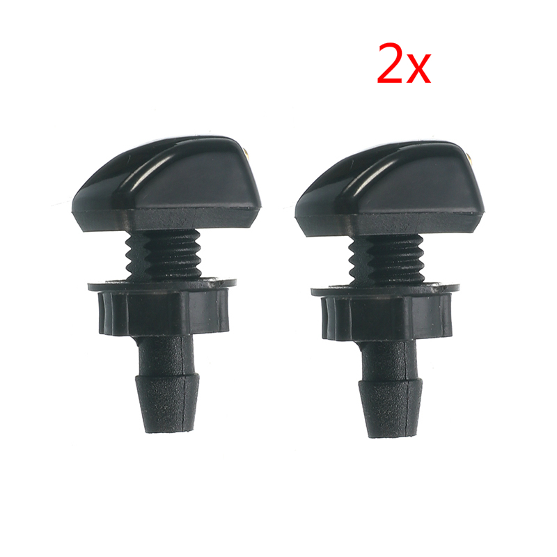 2 Pcs Auto Car Front Windscreen Universal Washer Wiper Nozzle Spray Kits For Volvo For VW Replacement2 Pcs Auto Car Front Windscreen Universal Washer Wiper Nozzle Spray Kits For Volvo For VW Replacement