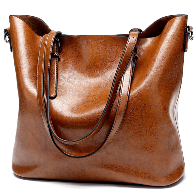 women leather handbags large bucket tote bag Soft Leather Shoulder  crossbody Bags brown gray black messenger bag women c2cd6a37e94e6