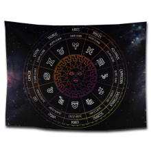 Hippie psychedelic tapestry spiritual esoteric astrology horoscope wall hanging carpet decorative tapestries tarot