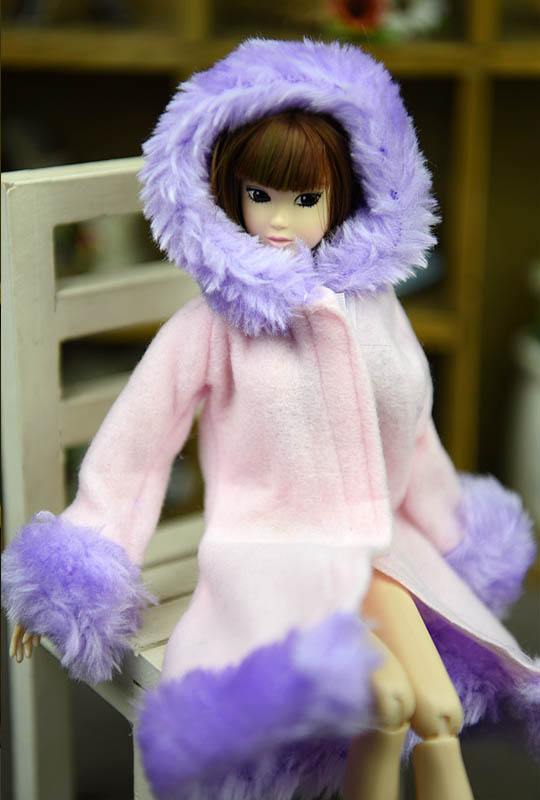 Doll Accessories Winter Wear Warm Coat For Barbie Dolls Fur Doll Clothing Dress Clothes For Barbie 1/6 BJD Doll Kids Toy 2