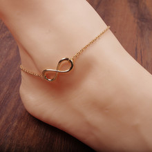 1lots =2 pieces Summer hot New Fashion  Foot jewelry '8' unlimited Shape Design  anklet mix color nice gift for  Women A-15