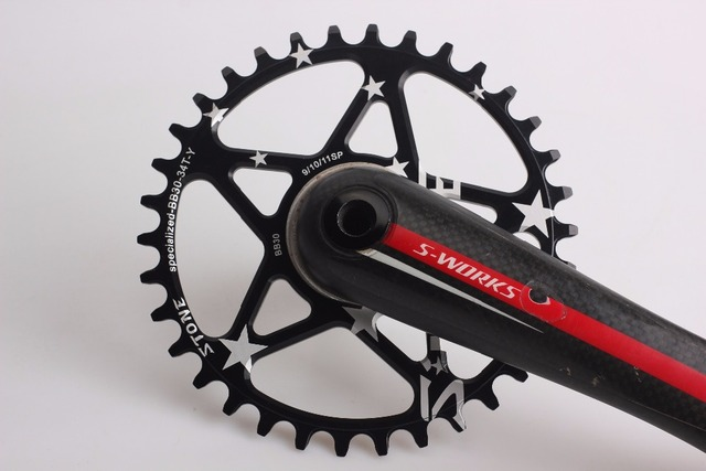 56727c1ca79 chainring for Specialized S-Works Direct Mount BB30 Single speed Narrow  Wide Circle 34T 36T
