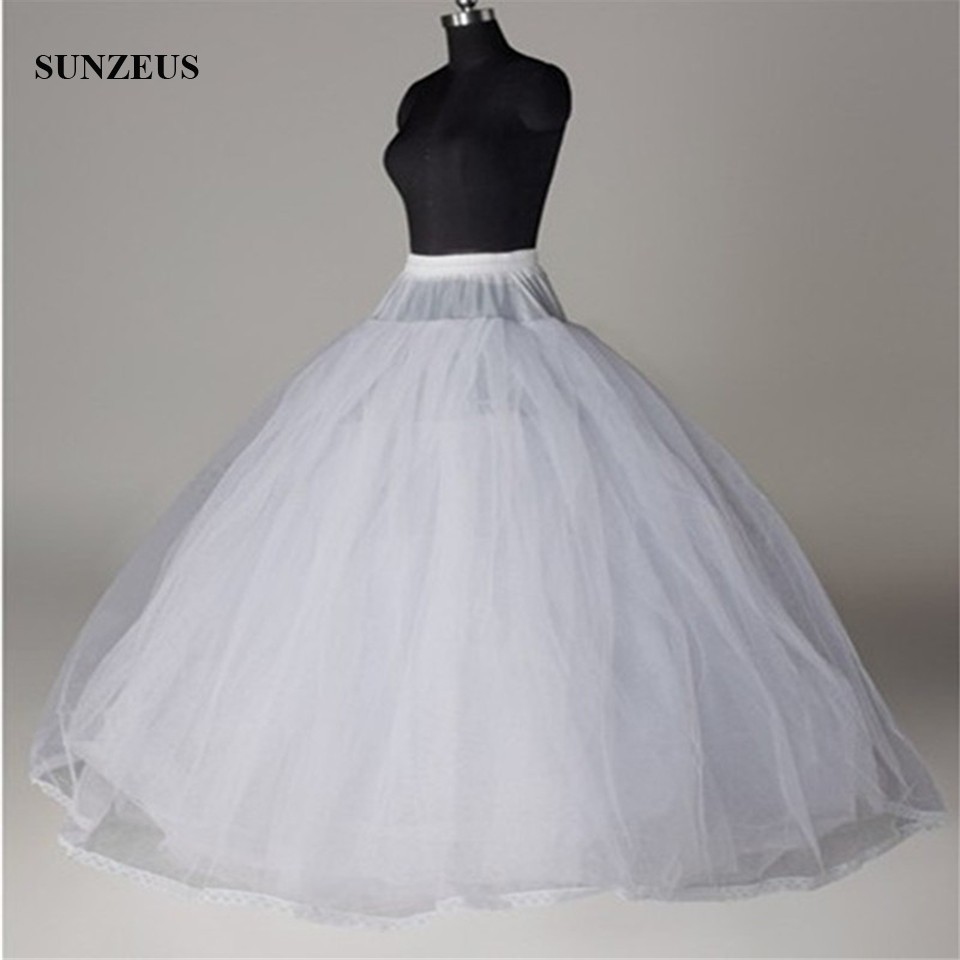 Hoopless Princess 8 Layers Hard Tulle Wedding Dress Petticoat Luxury Quinceanera Dresses Underskirt Long Crinoline Tulle S40