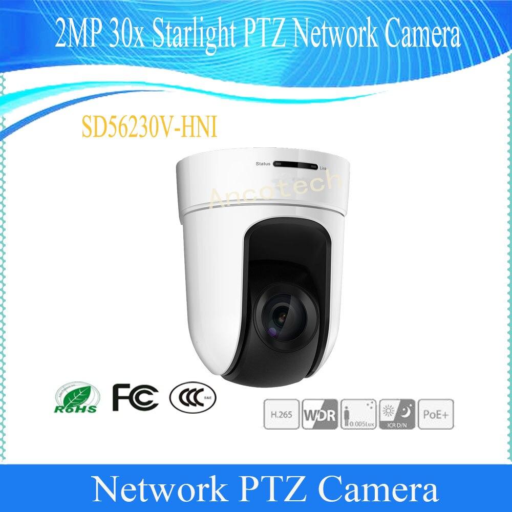 Free Shipping Dahua Original English CMOS Security CCTV 2M 30x Starlight PTZ Network Camera Without LOGO SD56230V-HNI Speed Dome dahua full hd 30x ptz dome camera 1080p