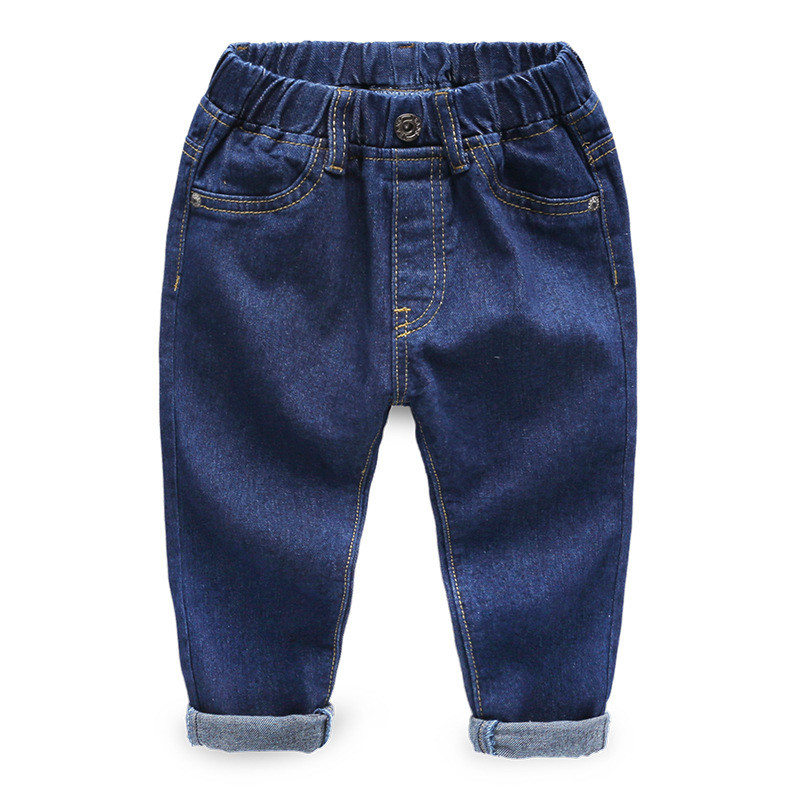 Jiuhehall Spring Autumn Children Cowboy Trousers Solid Casual Jeans For Kids 3 - 7 Years Baby Boys Full Length Pants CMB937 (1)