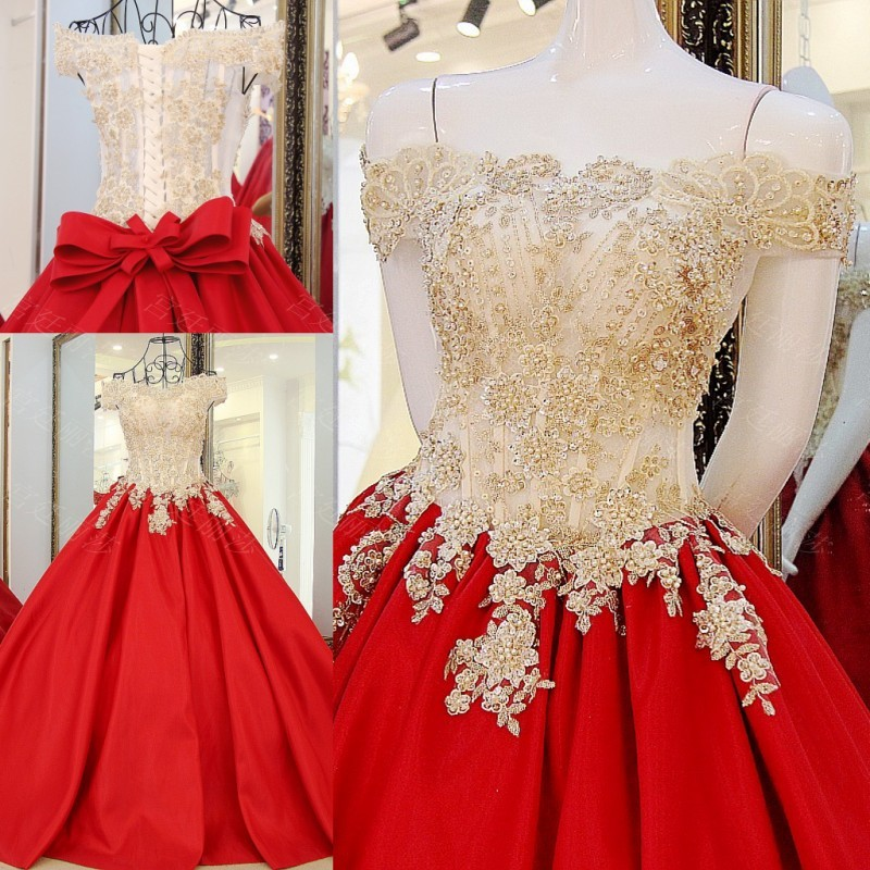 Custom Made 2017 Bridal Marriage Gowns A line Red Dress Lace Rhinestone African Wedding Dresses vestidos de novias WS62