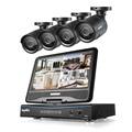 "Sannce 8ch 720 p dvr com 10.1 ""monitor LCD e (4) HD 1.0MP CCTV Câmaras Bullet 1500tvl SEM Disco Rígido"