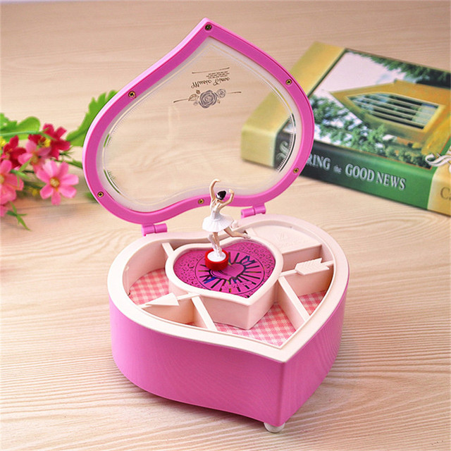 Heart Shaped Ballerina Music Boxes Jewelry Music Box Musical Boxes