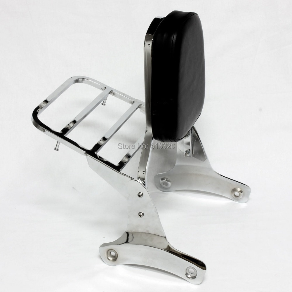 Sissy Bar Backrest with Luggage Rack Fits HONDA Shadow ACE VT 750