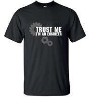 Men Short Sleeve T Shirt Tops Tees 2016 TRUST ME HUMOR I AM AN ENGINEER Streetwear
