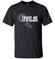 Men Short Sleeve T Shirt Tops Tees 2016 TRUST ME HUMOR I AM AN ENGINEER Streetwear