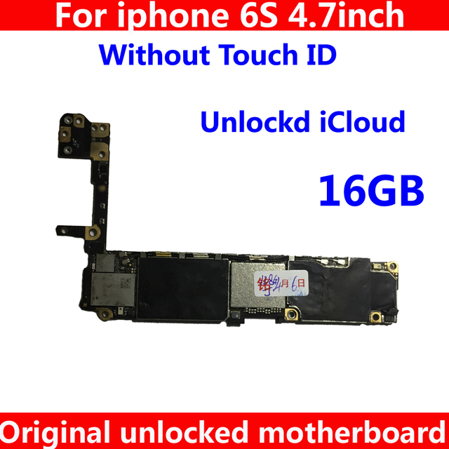 buy online db8d9 2e082 16GB Top Quality Cheap price motherboard without touch ID for iphone 6 S 6S  Original IOS system logic board unlocked mainboard-in Mobile Phone Antenna  ...