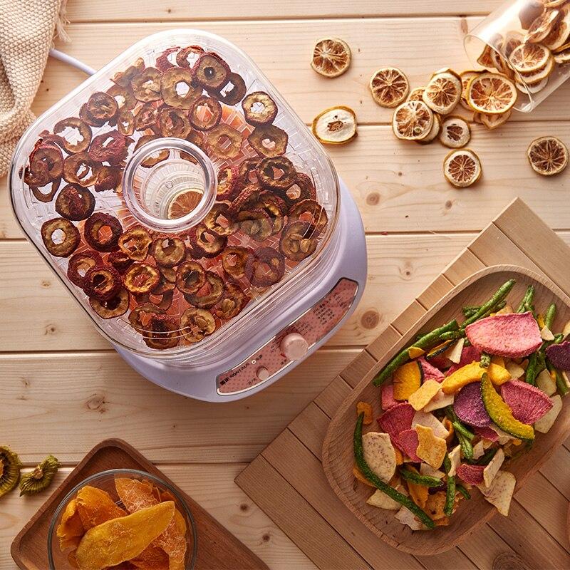 Rose 5 couches électrique intelligent déshydrateur Machine Mini détachable Multi fruits nourriture sèche Pet viande Visible matériel Air séchage outil - 2