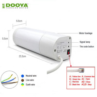 Eruiklink Dooya Electric Curtain Motor, Remote Control Curtain Motor For Auto Motorized Curtain Track For Smart Home Automation