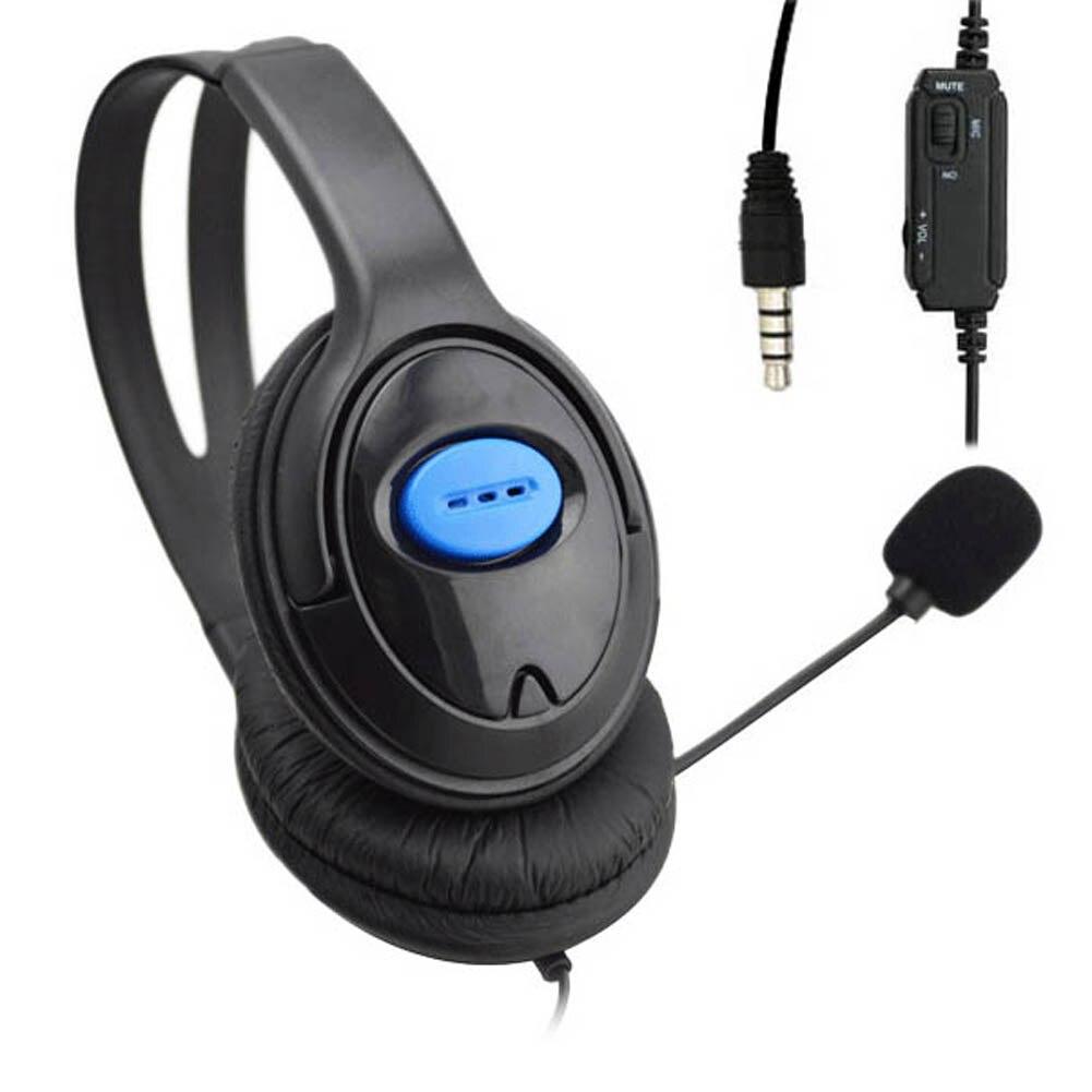 Galleria fotografica 3.5mm per cuffie gioco gaming headset cuffie con microfono auricolare con cavo per pc computer per <font><b>sony</b></font> playstation 4 ps4