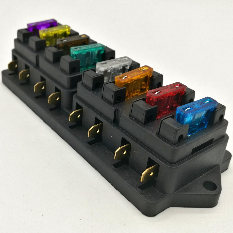 цена на Universal 12v 8Way Fuse Box Block Fuse Holder Box Fuse Accessory