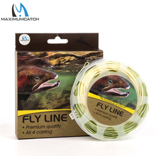 Maximumcatch 90FT Trout Fly Fishing Line 4/5/6wt Beige/Sage Weight Forward Floating Fly Line With Welded Loops