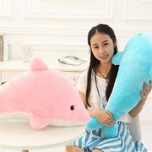 24 inch Cute dolphin plush toy doll pink and blue cloth dolls ocean pillow for birthday gift