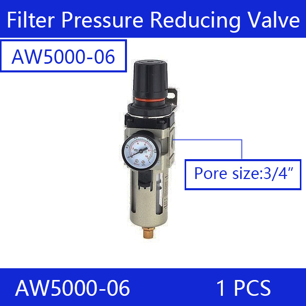 Free shipping Air Filter Regulator AW5000-06, 3/4 SMC type Air Treatment Unit with Copper Cartridge Manual DrainFree shipping Air Filter Regulator AW5000-06, 3/4 SMC type Air Treatment Unit with Copper Cartridge Manual Drain