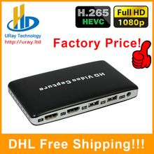 HDV-UH50 HD Video Game Capture 1080P HDMI Recorder onto USB Hard Disk For XBOX One/360 For WII U PS4 DVD Player US/EU Plug