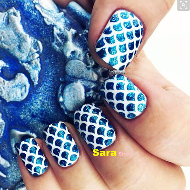 1 sheet fish scale pattern nail stencil nail sticker hollow diy 1 sheet fish scale pattern nail stencil nail sticker hollow diy manicure nail art template tools prinsesfo Images