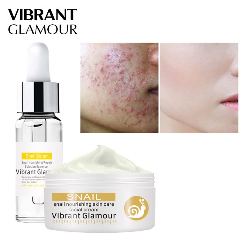 VIBRANT GLAMOUR Snail Repair Serum Face Cream Care