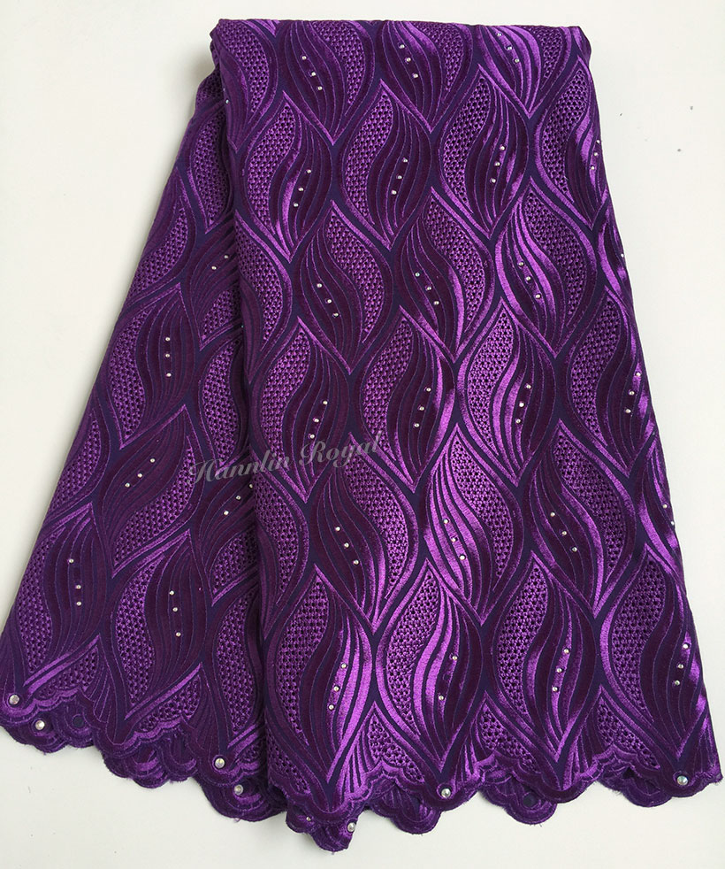 Purely purple Super Soft Original Swiss voile lace silky African lace fabric for all occasions skin