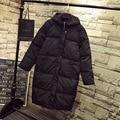 3XL 4XL 5XL Плюс Размер Женщин Парки 2016 Зимний Стиль Случайный Теплый Толстый Свободные Капюшоном С Длинным Куртка Пальто Черного QYL59