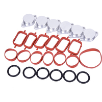 CARCHET 6PCS 33mm For BMW Diesel Swirl Flap Blanks Repair With Intake Manifold Gaskets